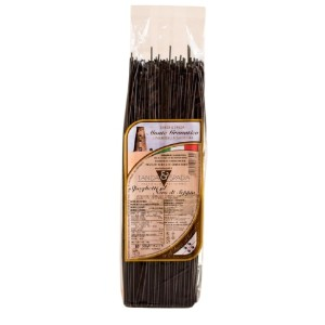 Pacco di spaghetti al nero di seppia da 500g - Pasta tipica sarda. Isolas shop: vendita prodotti Sardegna