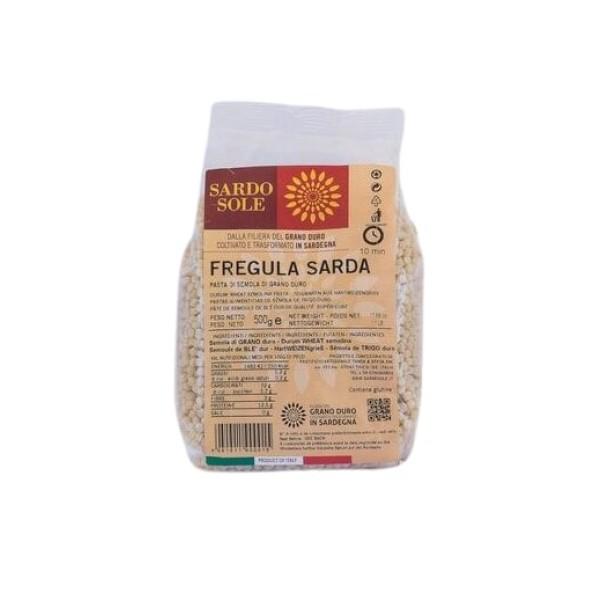 fregola sarda, chiamata anche fregula, di grano sardo della Filiera Sardo Sole