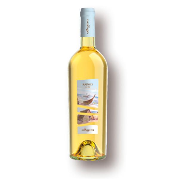Bottiglia di Vino Bianco Sardo della Cantina Contini