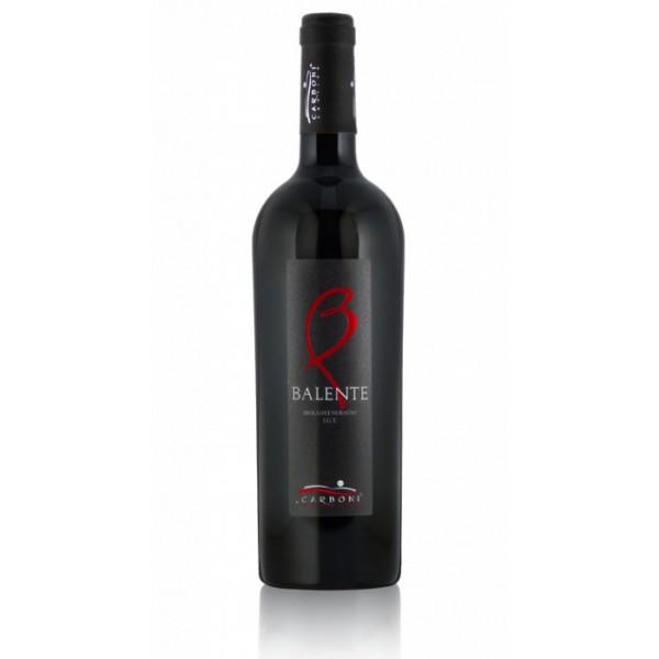 bottiglia di vino rosso balente